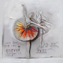 Painting ballerina on canvas 70x70 cm